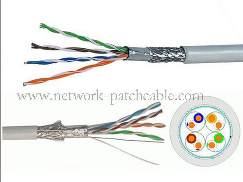 Unshielded Twisted Pairs SFTP Cat5e Cable 1000ft For Computer