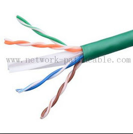 China Cable clasificado de Lan del cable de Ethernet CAT6 UTP del cable del pleno verde del gato 6 fábrica