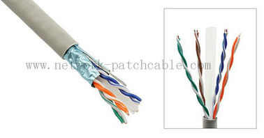 China Gris interior del cable 23AWG 4Pair 305m/roll de Ethernet CAT6 UTP del gigabit de la red fábrica